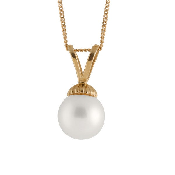 14k Yellow Gold Freshwater Pearl Pendant (8mm)