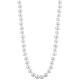 14k Gold Freshwater Pearl Drape Necklace (8mm)