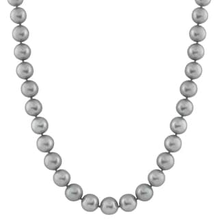 14k Gold Freshwater Round Pearl Necklace (7mm)