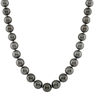 14k Gold Tahitian Graduated Pearl Necklace (11-14mm)