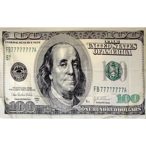 100 Dollar Bill Novelty Flag