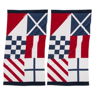 IZOD Nautical Flags Beach Towel (set of 2)