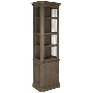 Safavieh Couture Collection Leonardo Oak Burnt Oak Storage Cabinet