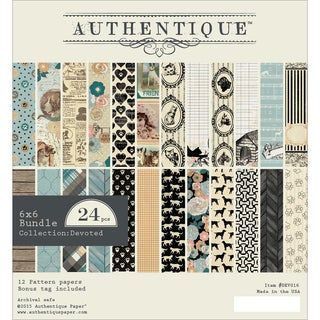 Authentique Bundle Double Sided Cardstock Pad 6inX6in 24/Pkg Devoted