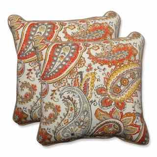 Pillow Perfect Outdoor/ Indoor Hadia Sunset 18.5-inch Throw Pillow (Set of 2)