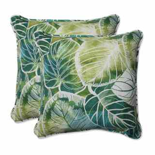 Pillow Perfect Outdoor/ Indoor Key Cove Lagoon 18.5-inch Throw Pillow (Set of 2)