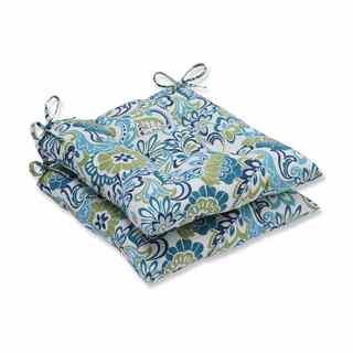 Pillow Perfect Outdoor/ Indoor Zoe Mallard Wrought Iron Seat Cushion (Set of 2)