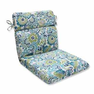 Pillow Perfect Outdoor/ Indoor Zoe Mallard Rounded Corners Chair Cushion