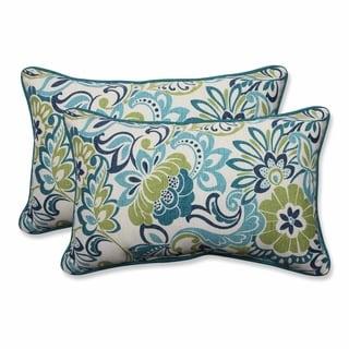 Pillow Perfect Outdoor/ Indoor Zoe Mallard Rectangular Throw Pillow (Set of 2)