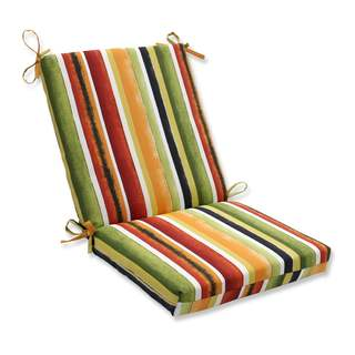 Pillow Perfect Outdoor/ Indoor Dina Noir Squared Corners Chair Cushion