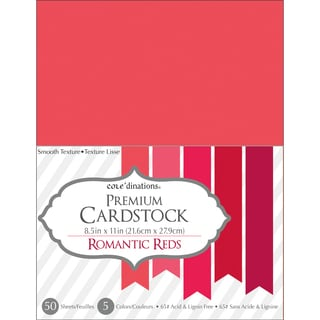 Core'dinations Value Pack Cardstock 8.5inX11in 50/Pkg Romantic Reds