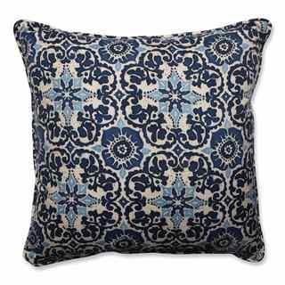 Pillow Perfect Outdoor/ Indoor Woodblock Prism Blue 25-inch Floor Pillow