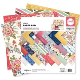 We R Memory Keepers Paper Pad 12inX12in 48/Pkg Wildflower