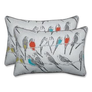 Pillow Perfect Outdoor/ Indoor Retweet Mango Over-sized Rectangular Throw Pillow (Set of 2)