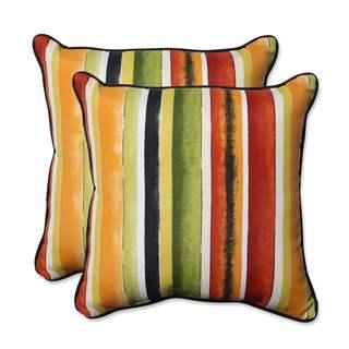 Pillow Perfect Outdoor/ Indoor Dina Noir 18.5-inch Throw Pillow (Set of 2)