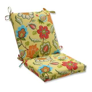 Pillow Perfect Outdoor/ Indoor Timmo Sunshine Squared Corners Chair Cushion