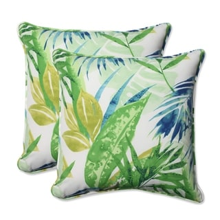 Pillow Perfect Outdoor/ Indoor Soleil Blue/Green 18.5-inch Throw Pillow (Set of 2)