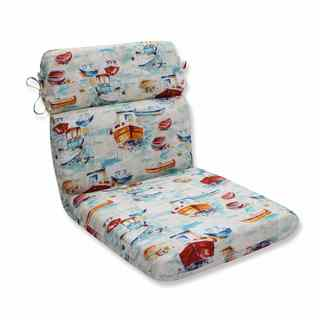 Pillow Perfect Outdoor/ Indoor Spinnaker Bay Sailor Rounded Corners Chair Cushion