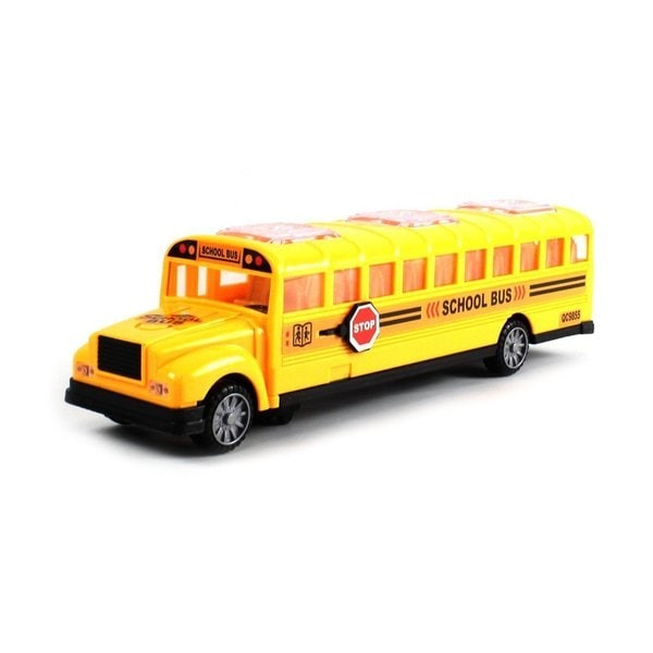 Deluxe Children's School Bus Battery Operated Bump and Go Toy Bus with Fun Sounds, Flashing Lights, Music by Velocity Toys