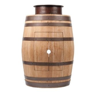 Premier Copper Products Wine Barrel Natural Finish Vanity Package with 15-inch Round Vessel Tub Sink
