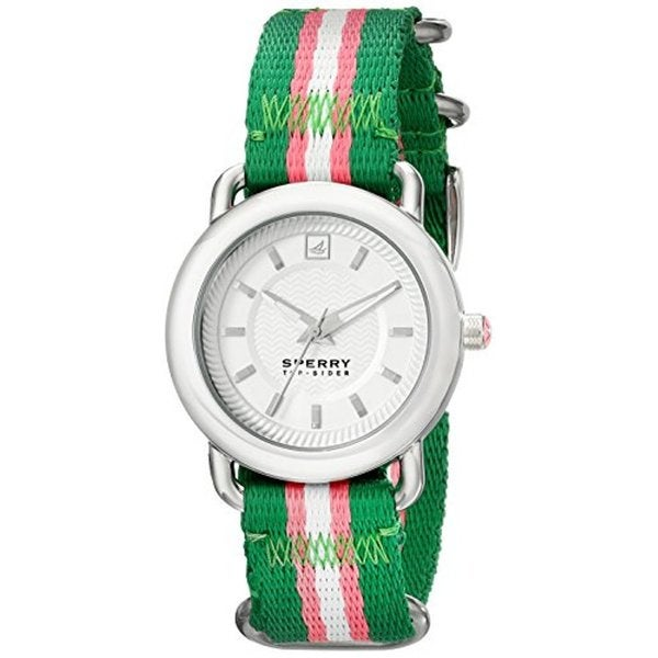 Sperry Women's 10014928 Top-sider Hayden Stainless Steel Striped Nylon Band Watch