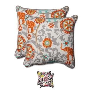 Pillow Perfect Outdoor/ Indoor Menagerie 18.5-inch Throw Pillow (Set of 2)