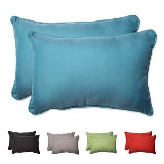 Pillow Perfect Outdoor/ Indoor Tweed Over-sized Rectangular Throw Pillow (Set of 2)