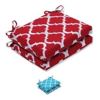 Pillow Perfect Outdoor/ Indoor Kobette Squared Corners Seat Cushion (Set of 2)