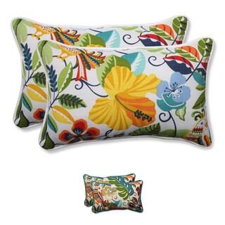 Pillow Perfect Outdoor/ Indoor Lensing Rectangular Throw Pillow (Set of 2)