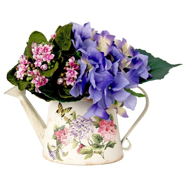 Decorative Floral Watering Can