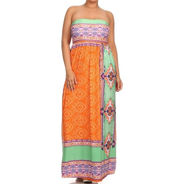 Moa Women's Plus Size Patterned Maxi Dress