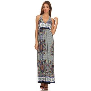 Moa Collection Women's Sleeveless Halter Dress