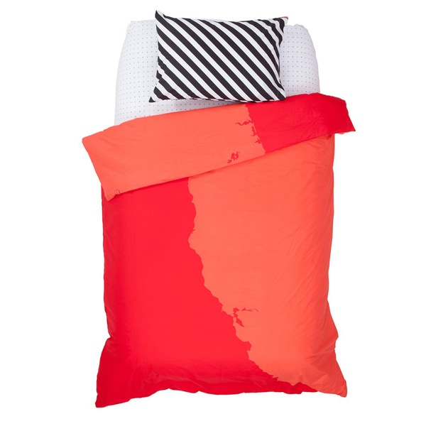 Red Best Coast Duvet Cover