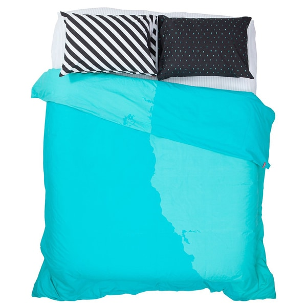 Teal Best Coast Duvet Cover