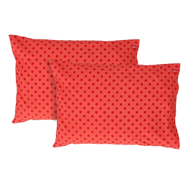 Red Polka Dot Pillowcase (Set of 2)