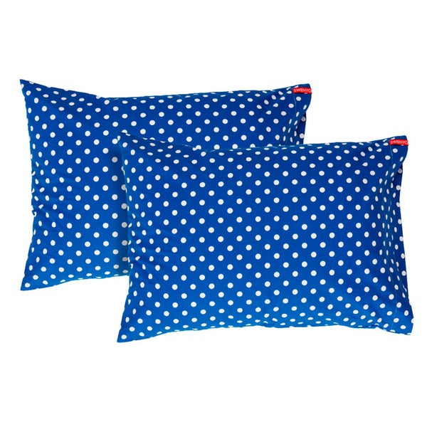 Blue Polka Dot Pillowcase (Set of 2)