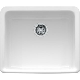 Franke MHK110-20WH Manor House White Drop In/Farmhouse Fireclay Kitchen Sink