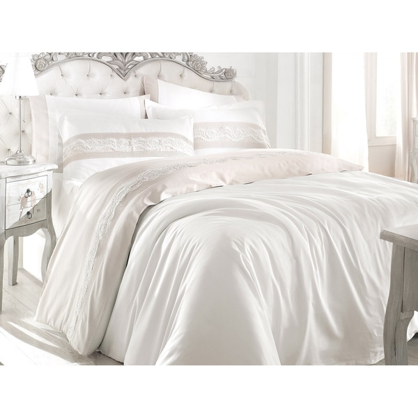 Debage City Sleep 6-piece Queen Lotus Duvet Cover Set (As Is Item)