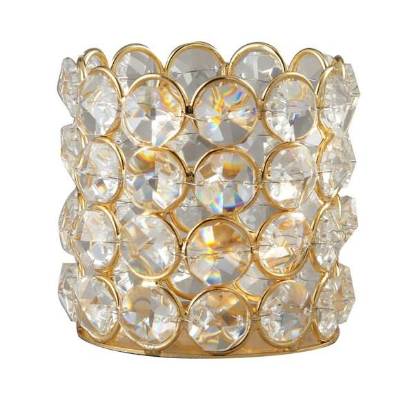 Elegance Sparkle Beaded Crystal T-Lite Holder