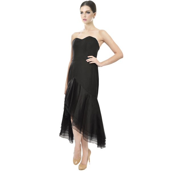 Angel Sanchez Women's Layered Silk Organza Evening Dress