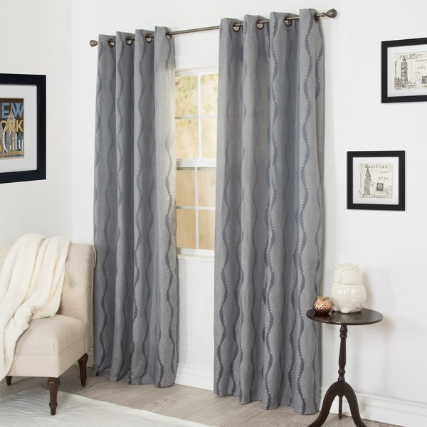 WH Angelina Jacquard Curtain Panel Set