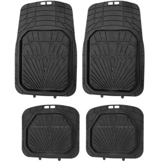 4pc Black Rubber 3D Car Mat