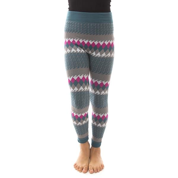 Soho Kids Big Girls' Teal/Grey Winter Fleece Leggings