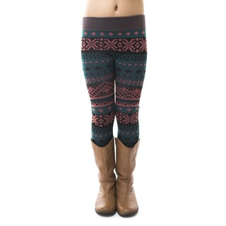 Soho Kids Big Girls' Tribal Warm Winter Fleece Leggings