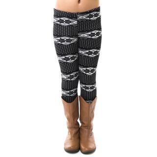 Soho Kids Little Girls' Soft Winter Snowflake Fur Lined Leggings