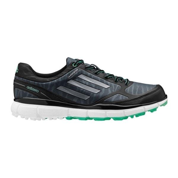 Adidas Women's Adizero Sport III Dark Grey/ Black/ Bright Green Golf Shoes