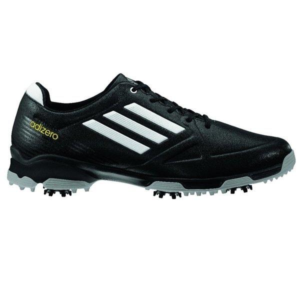 Adidas Men's Adizero 6-Spike Black/ White Golf Shoes