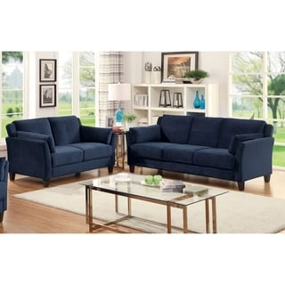 Furniture of America Pierson Contemporary 2-piece Flannelette Sofa Set