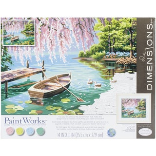 Paint Works Paint By Number Kit 14inX11in Willow Spring Beauty