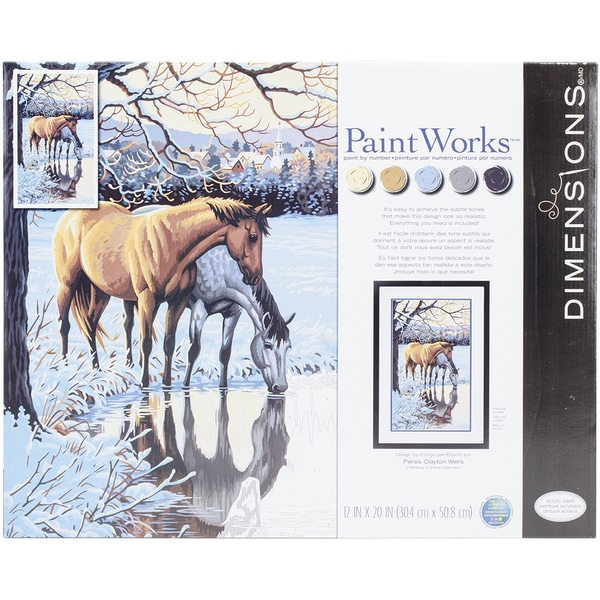 Paint Works Paint By Number Kit 12inX20in Reflections 17261691
